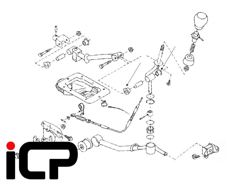 Subaru Impreza STi 6 Speed 00-07 Gear Lever Lower Top Hat Bush