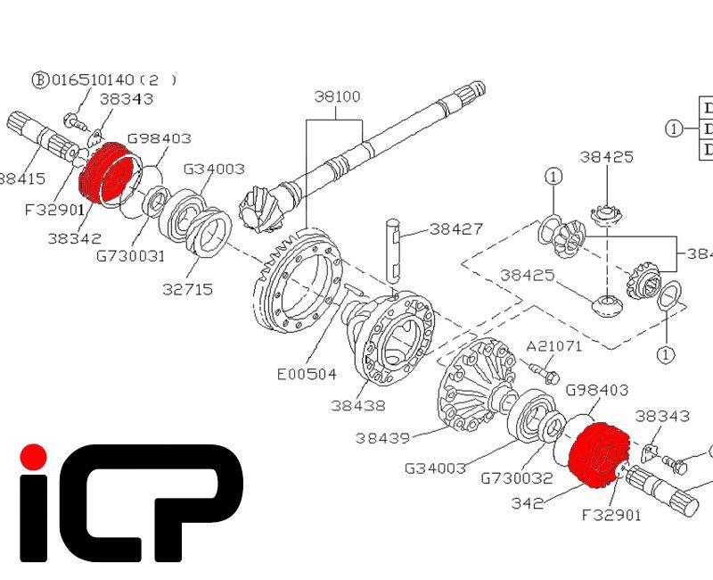 Subaru Impreza WRX STi 03-07 Gearbox Front Diff Preload