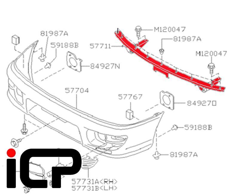 Subaru Impreza WRX & STi 98-00 Front Bumper Support Beam