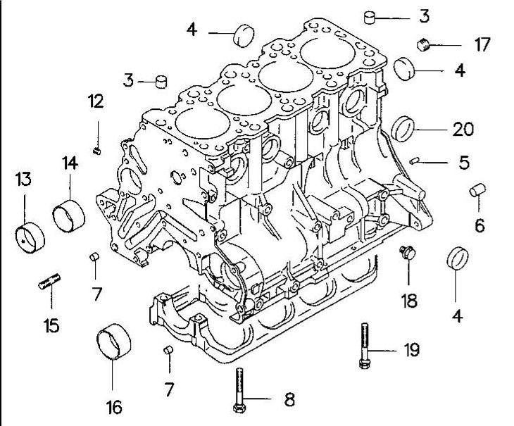 Mitsubishi Lancer Evolution 3 to 9 Front Balance Shaft Bearing