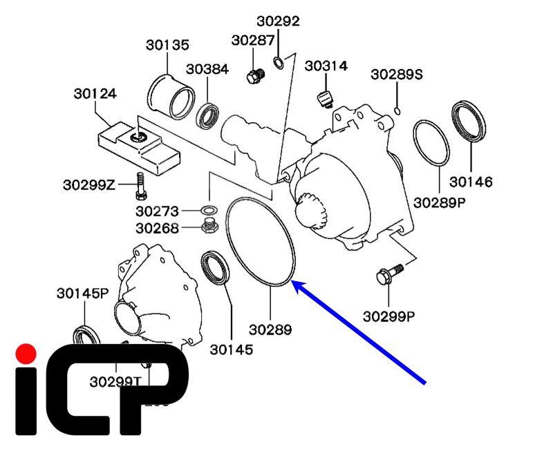 Mitsubishi Lancer Evo 4 5 6 7 8 9 Transfer Case RH Outer O