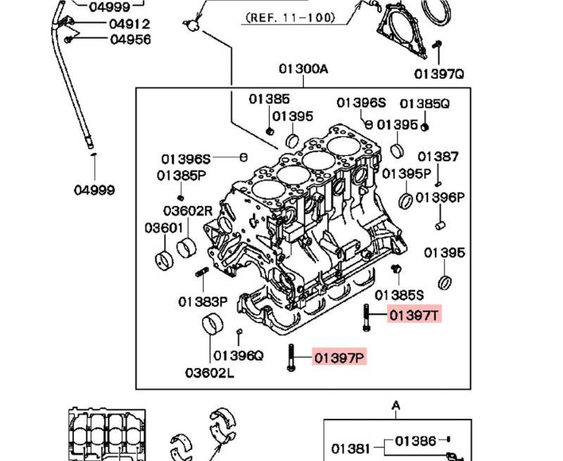 Mitsubishi Lancer Evolution Evo 3 to 9 Crankshaft Bearing