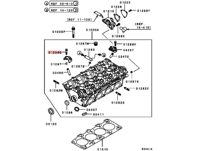 Mitsubishi Lancer Evo 4 to 9 Camshaft Cap Bolt Set MS101353