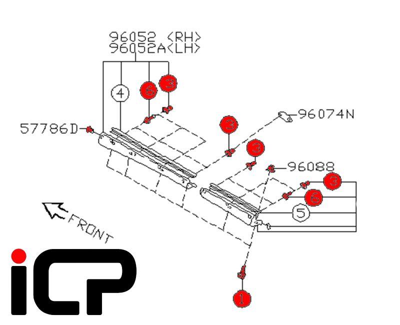 Subaru Impreza 92-00 Side Sill Fitting Kit