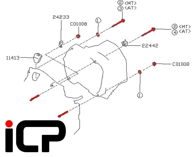 Subaru Impreza 92-00 Manual Gearbox Bell Housing bolt Kit