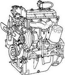 Complete 3 Cylinder 100 MM Bore Engine, for: