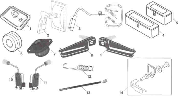 Fiat/Hesston Cab Parts