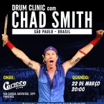 "Baterista do Red Hot Chilli Peppers ""Chad Smith"" retorna ao Brasil para mais uma ""Drum Clinic"""