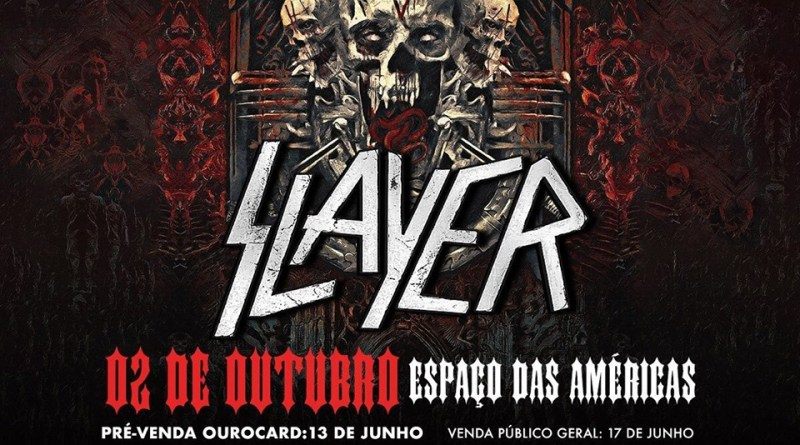 Turnê de Despedida Slayer em SP, Out/2019