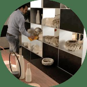 pulizia showroom e negozi