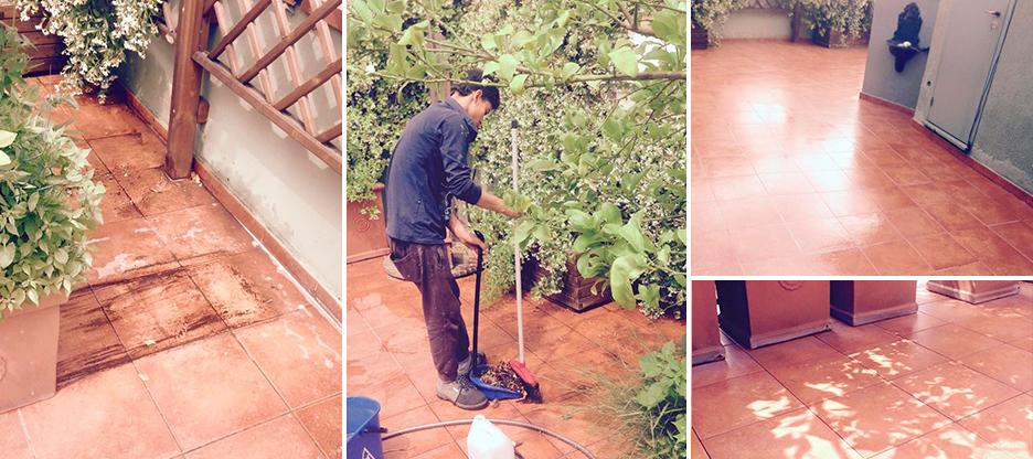 pulizia terrazza a milano