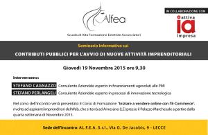 Seminario informativo 19 novembre 2015