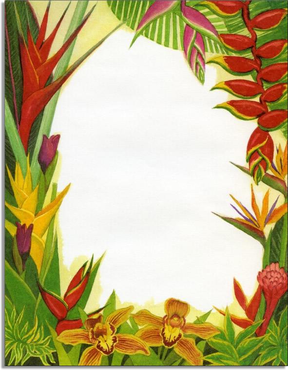 "Quick View GL215 ""Hawaiian Flora Laser Paper"""