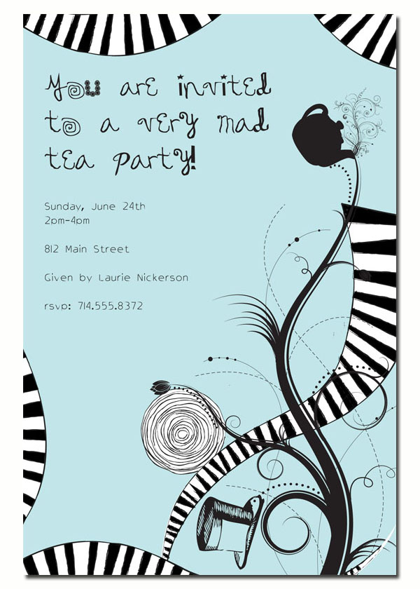 Mad Tea Party Invitation A With Twist This Great Is