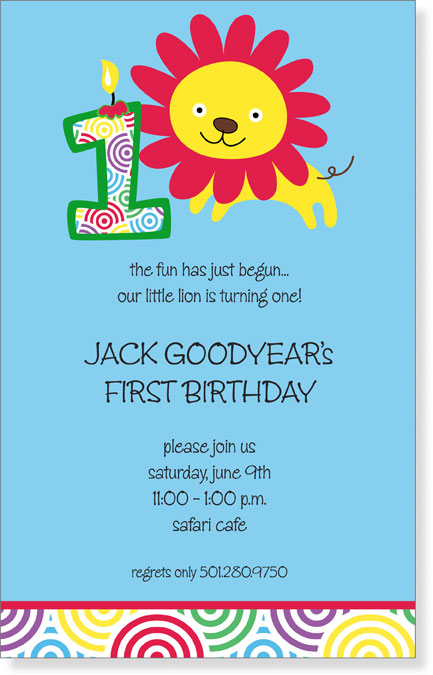 "Quick View LSA 12576 ""My First Birthday Invitation"""