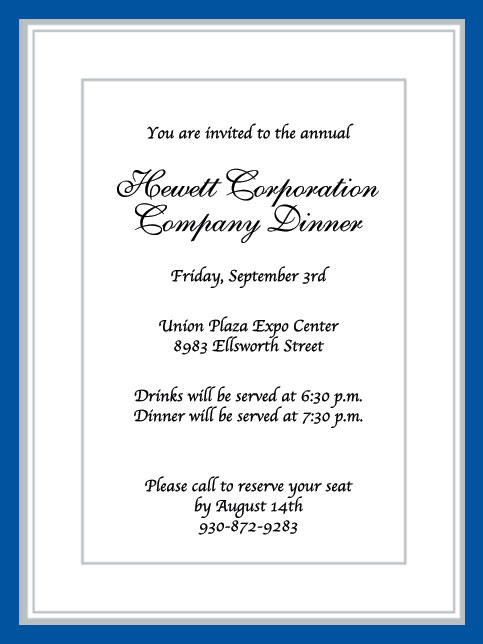 Corporate Event Invitation Wording Ideas – Corporate Invitation Text