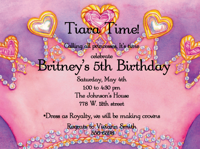 Birthday Invitations Princess