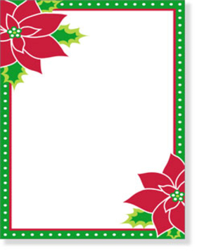 Holiday Amp Seasonal CHRISTMAS Stationery Papers 85 X 11