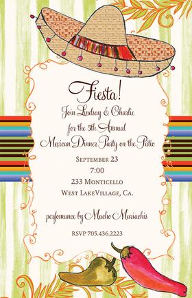 Invitations FIESTA Invitations Hat Dance Invitation