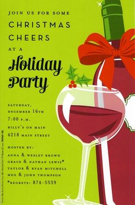 Holiday  Seasonal CHRISTMAS Invitations Cocktail  Food