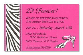 birthday invitation wording ideas