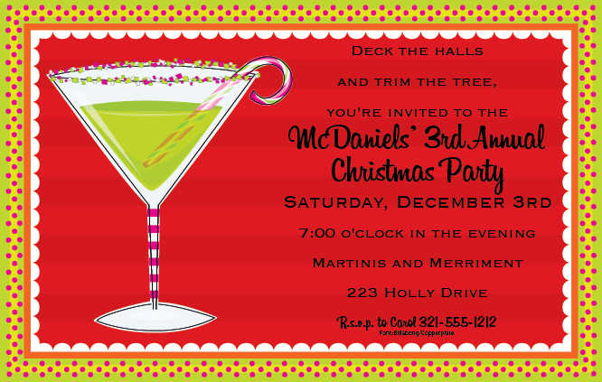 These Christmas Themed Invitations Are Among The Most Por Open House Invitation Designs Available