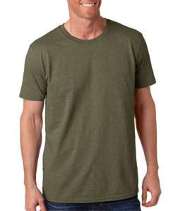 Mens Custom Fashion Fit Shirts  Gildan Softstyle Crew 64000