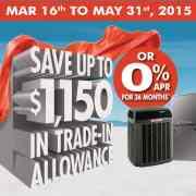 2015 Trane Spring Promotion