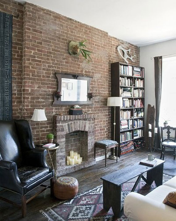 small living room ideas with brick fireplace paint for low natural light and stone wall 38 house interiors brick22
