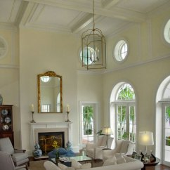 High Ceiling Living Room Decor Ideas Blue Wall Colors For Rooms And Decorating Them C42