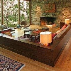 Laminate Flooring Sunken Living Room Eg Wooden Escape Walkthrough Best Designs 41 Conversation Pits The Perfect Pits2