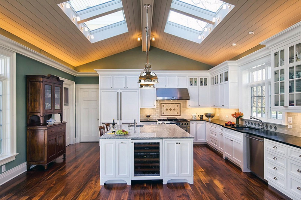 kitchen skylights kohler faucets kitchens with for more natural light interior design 1