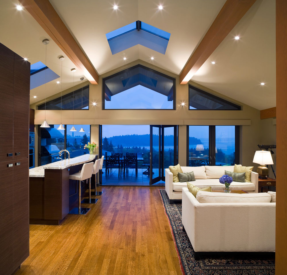 Vaulted Ceiling Living Room Design Ideas Part 39