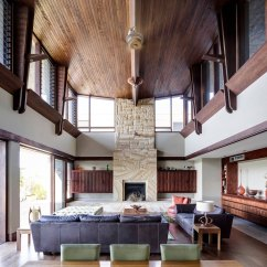 High Ceiling Living Room Decor Ideas Rooms With Brown Leather Sectionals And Decorating For Them A Ceiling6