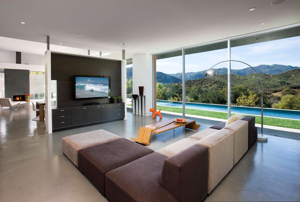 how to decorate a long living room tv stand showcase designs tips for dividing large room12