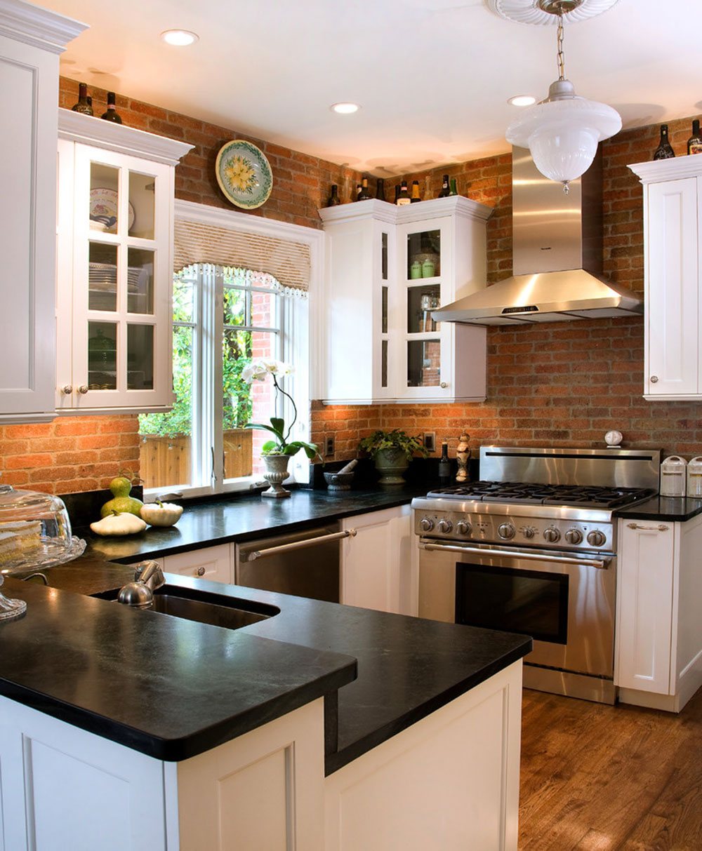 brick backsplash in kitchen white set modern ideas ideas14