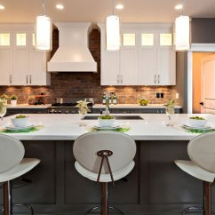 Brick Backsplash In Kitchen Semi Custom Cabinets Reviews Modern Ideas Ideas8