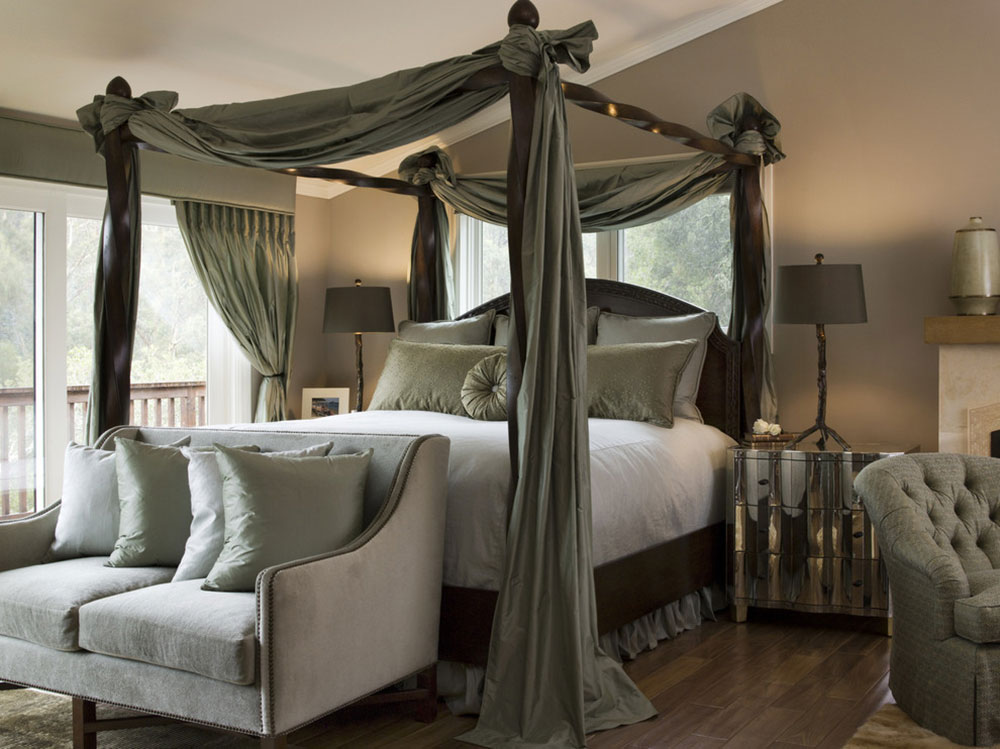 curtains around bed between function