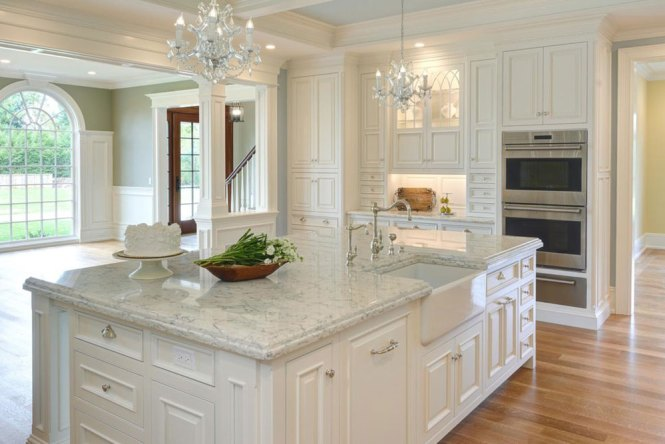 Bright Your Kitchen With Sparkling White Quartz Countertop16