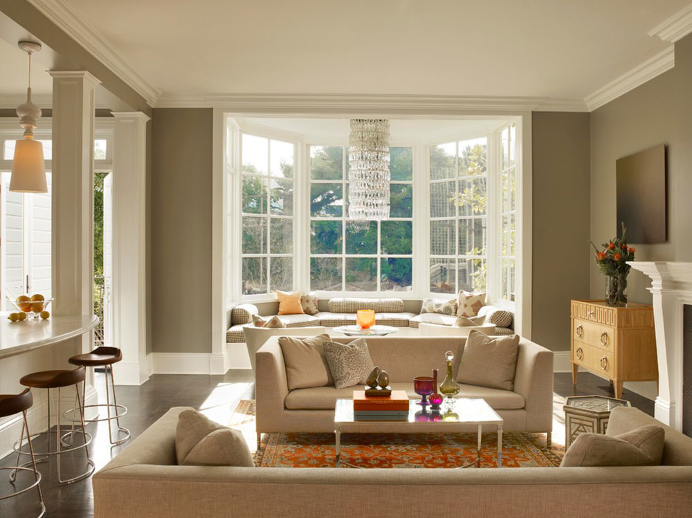 living room window gold and grey bay decor to try in your home homey feelings with these 7