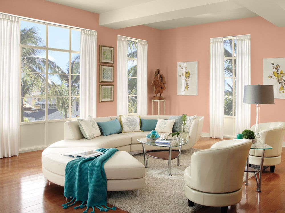 great living room color schemes bay window treatments cool interior design schemes13