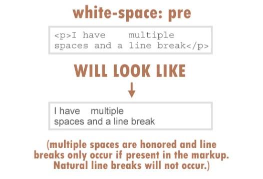 white-space: pre