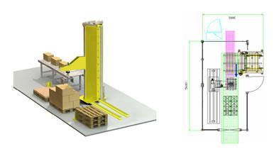 Impianti di Pallettizzazione automatica a Bandiera