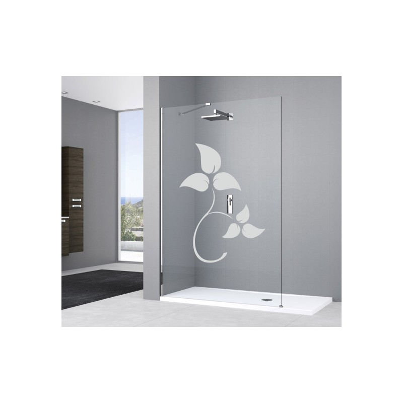 deco vitre salle de bain feuilles 3