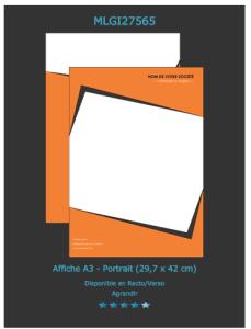 Retrouvez ce modèle d'affiche sur notre site d'imprimeur en ligne. N'oubliez pas de nous envoyer une demande de devis en ligne.