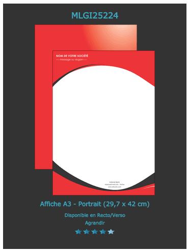 Souvent Exemple/modèle d'affiche - Imprimerie Affiche KF34