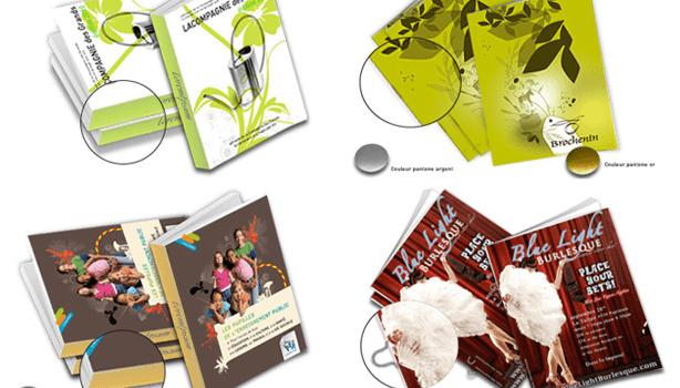 Brochure, catalogue et magazine : différence entre l'agrafe et le dos collé