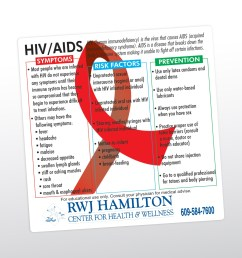 item 8009 020 s hiv aids health and safety magnet custom printed promotional products and giveaways with your imprinted logo or personalized message  [ 1500 x 1500 Pixel ]