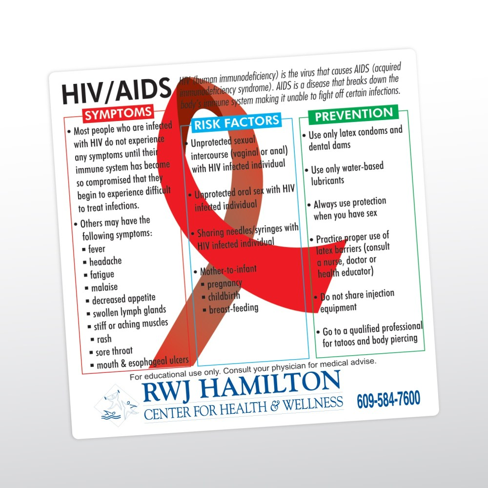 medium resolution of item 8009 020 s hiv aids health and safety magnet custom printed promotional products and giveaways with your imprinted logo or personalized message