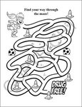 Stay Drug Free Coloring and Activity Book Fun Pack with